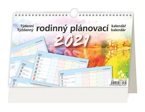 Kalendář stolní 2021 - Týdenní rodinný plánovací kalendář