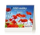 Kalendář stolní 2021 - Vlčí máky