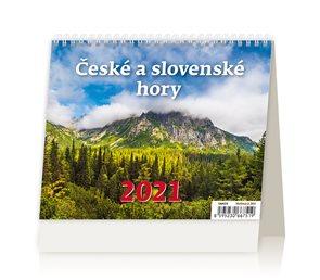 Kalendář stolní 2021 - MiniMax České a slovenské hory