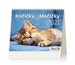 Kalendář stolní 2021 - MiniMax Kočičky/Mačičky