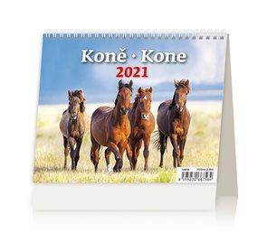 Kalendář stolní 2021 - MiniMax Koně/Kone