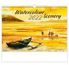 Kalendář nástěnný 2022 - Watercolour Scenery