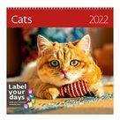 Kalendář nástěnný 2022 Label your days - Cats