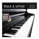 Kalendář nástěnný 2022 Label your days - Black & White