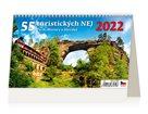Kalendář stolní 2022 - 55 turistických nej Čech, Moravy a Slezska