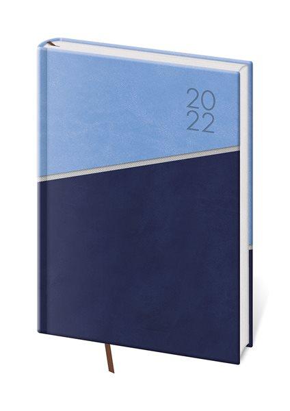 Diář 2022 denní A5 Line - modrý - 14,3 x 20,5 cm