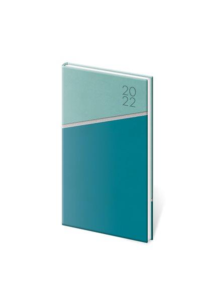 Diář 2022 týdenní kapesní Line - zelený - 8x15 cm