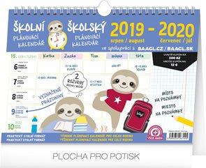 Školní plánovací kalendář 2019/2020 s háčkem, 30 × 21 cm