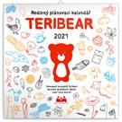 Rodinný plánovací kalendář 2021 nástěnný TERIBEAR
