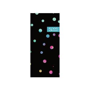 Oxybag Diář 2022 PVC kapesní měsíční - Dots colors