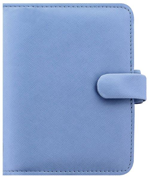 Filofax Kroužkový diář 2021 Saffiano kapesní - sv.modrý - 145 x 115 x 34 mm