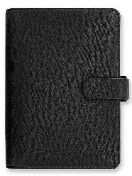 Filofax Kroužkový diář 2021 Saffiano osobní - černý - 188 x 135 x 35 mm