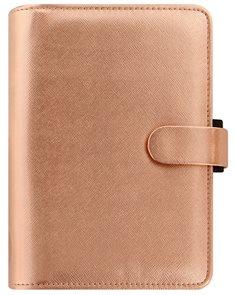 Filofax Kroužkový diář 2020 Saffiano Metallic osobní - Rose Gold