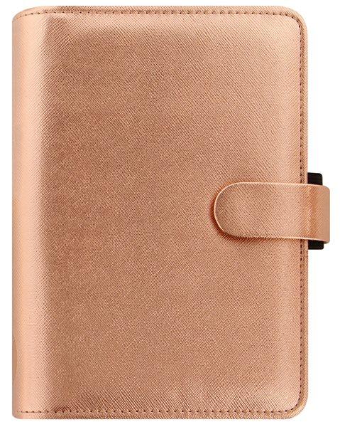 Filofax Kroužkový diář 2021 Saffiano Metallic osobní - Rose Gold