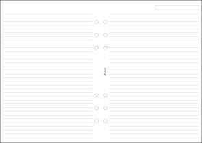 Filofax Poznámkový papír linkovaný pro diář A5