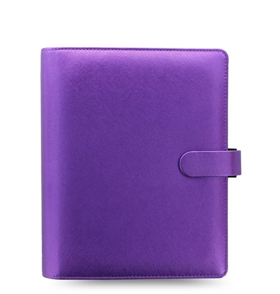 Filofax Kroužkový diář 2020 Saffiano Metallic A5 - fialová