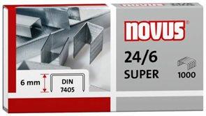 NOVUS Drátky do sešívačky 24/6 SUPER - 1000 ks