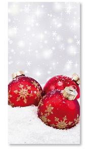 Stil Vánoční sáček s křížovým dnem 20×40 cm - červené ozdoby