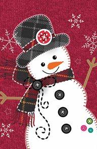 Stil Vánoční sáček s křížovým dnem 24,5×38 cm - Sněhulák