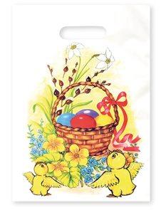 Stil Velikonoční igelitová taška 25 × 35 cm - Velikonoční koleda