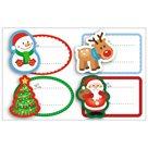 Vánoční etikety - jmenovky, 1 arch - mix motivů