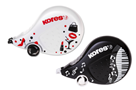 Kores Korekční strojek SCOOTER BLACK WHITE 8mx4,2mm
