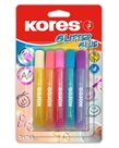 Kores Glitter Glue lepidlo se třpytkami 10,5 ml × 5 pastelových barev