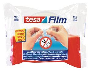 Tesa Lepicí páska trhatelná rukou 19 mm × 25 m transparentní