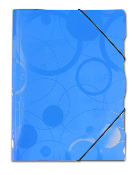 PP Neo Colori Desky s gumou PP 3 klopy A4 - modrá