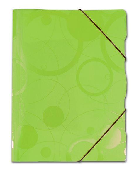 PP Neo Colori Desky s gumou PP 3 klopy A4 - zelená