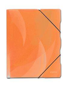 Karton Shadow Desky s gumou PP 3 klopy A4 - oranžová