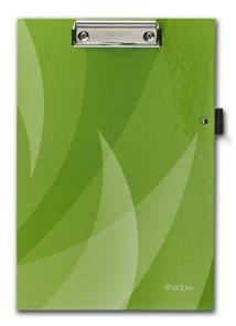 PP Psací podložka A4 s klipem a úchytem na tužku Shadow - zelená