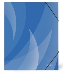 PP Desky s gumou SHADOW lamino A4 - modré