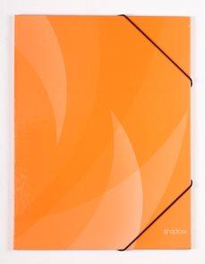 PP Desky s gumou SHADOW lamino A4 - oranžová