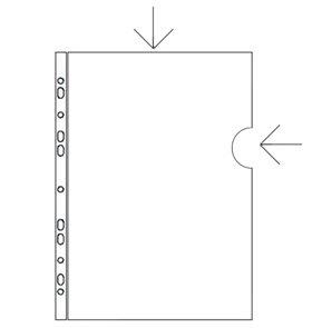 PP Zakládací obal L/U A4 s euroděrováním PVC 150 mic
