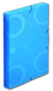 PP Krabice s gumou A4 3cm Neo Colori - modrá
