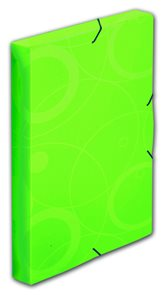 PP Krabice s gumou Neo Colori A4 3cm  - zelená