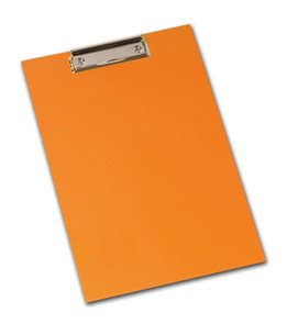 PP Psací podložka NEO COLORI lamino A4 s klipem - oranžová