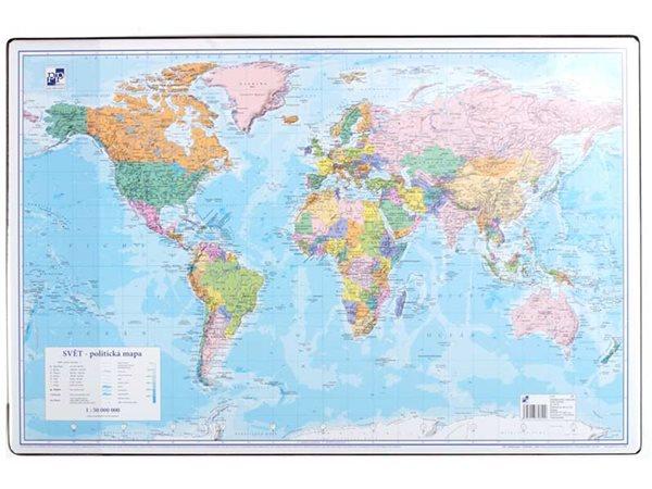 PP Psací podložka na stůl 60x40 - mapa Svět