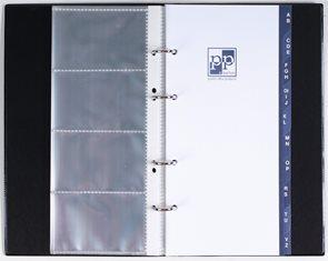 Vizitkář A5 na 80 vizitek včetně registru - černý