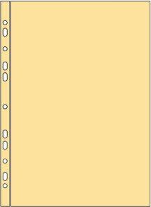 """Zakládací obal """"U"""" A4 s euroděrováním 60 mic - žlutý"""