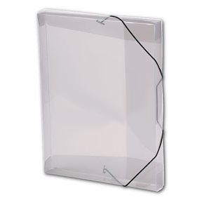 PP Krabice na spisy A4 3 klopy s gumou - kouřová