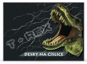 Karton PP Desky na číslice - T-REX motiv 2014