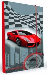 Karton PP Desky na sešity s boxem A5 - Auto vzor 2014