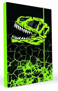 Karton PP Desky na sešity s boxem  A4 - Dinosaurus vzor 2014