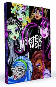 Karton PP Desky na sešity s boxem A4 - Monster High 2014