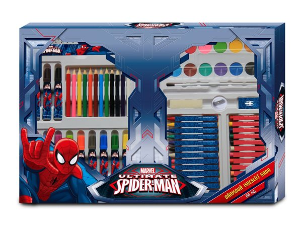 Kreslící dárková sada - Spiderman - 68 ks