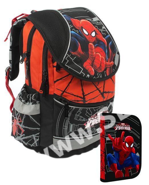 Školní batoh PLUS + penál - Spiderman - SEVT.cz 7e980d2407