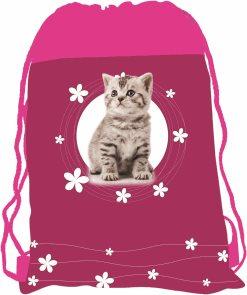 Sáček na cvičky - Kočka