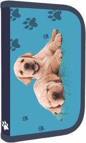 Školní penál - 1 patrový s chlopní - Pes